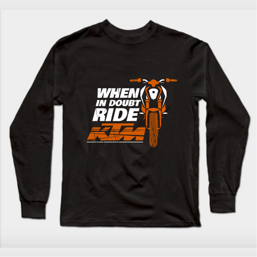 When in Doubt KTM Premium Official Black Full Sleeve Premium T-Shirt