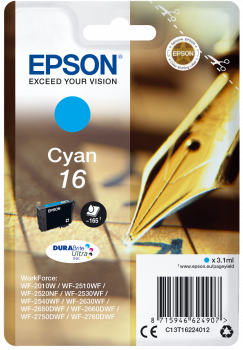 Epson T16 Cyan Fountain Pen