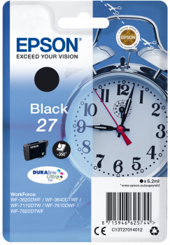 Epson T27 Black Alarm Clock