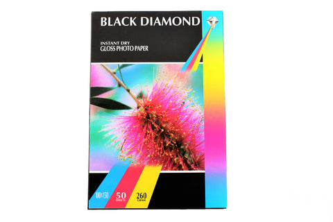 Black Diamond Glossy Photo Paper 10x15 cm 260 gsm 50 sheets