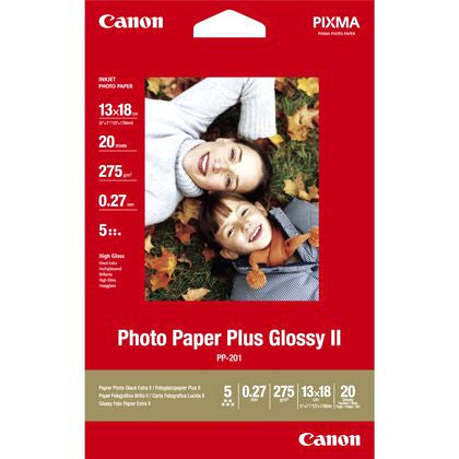 Canon PP-201 Glossy II Photo Paper Plus 13cmx18cm - 20 sheets