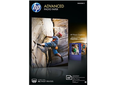HP Advanced Photo Paper 10cmx15cm 250gsm - 60 sheets