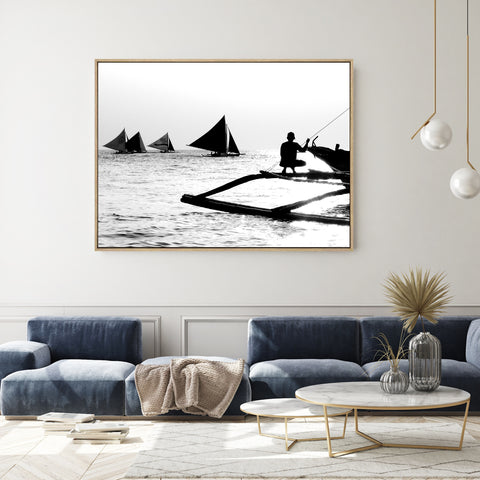 Afternoon Fishing | Shadow Framed Art
