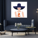 Aperol Girl | Drop Shadow Framed Art
