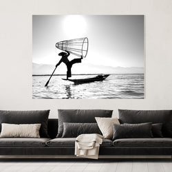 Burmese Fisherman | Canvas Art