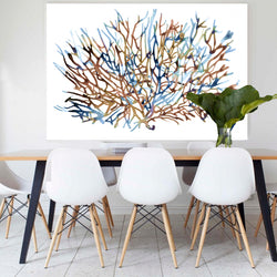 Coral Water | Canvas Art