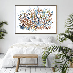 Coral Water | Drop Shadow Framed Art
