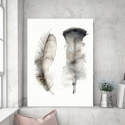 Floating Feathers | Canvas Art