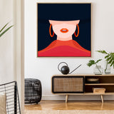 Girl In The Hooped Earing | Drop Shadow Framed Art