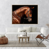 Hermes Horse | Shadow Framed Art