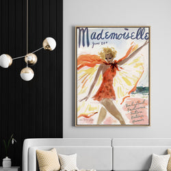 Mademoiselle | Drop Shadow Framed Art