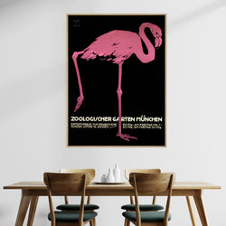 Munich Zoo Flamingo | Shadow Framed Art