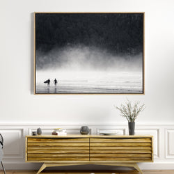 On The Search | Drop Shadow Framed Art