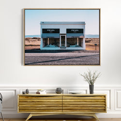Prada Marfa | Drop Shadow Framed Art