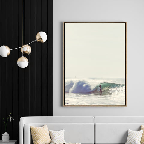 Shore Break | Drop Shadow Framed Art