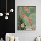 Swim For Love | Drop Shadow Framed Art
