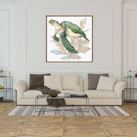 Turtle Love | Drop Shadow Framed Art