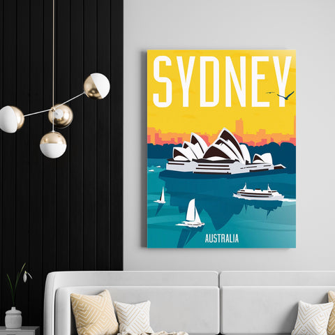 Vintage Sydney | Canvas Art