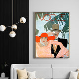Vintage Vogue Cover Couple | Drop Shadow Framed Art