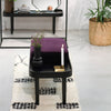 BENCH SEAT CUSHION - VELVET AUBERGINE