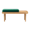 BENCH SEAT CUSHION VELVET JADE GREEN