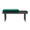 BENCH SEAT CUSHION - VELVET JADE GREEN