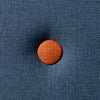 KK 3 FOLD DARK BLUE W. ORANGE BUTTONS