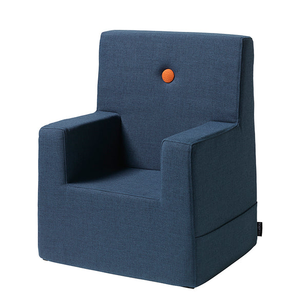 KK KIDS CHAIR XL - DARK BLUE W. ORANGE