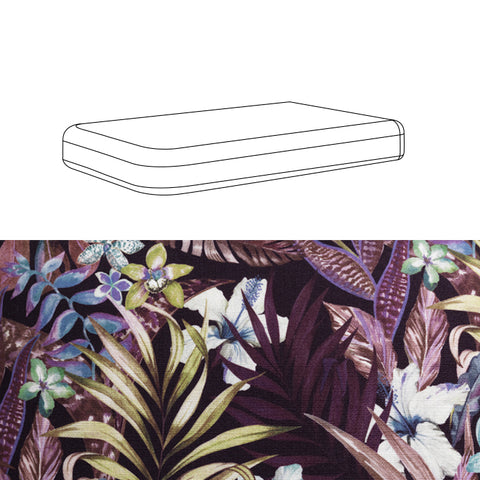BENCH SEAT CUSHION - WILD LEAVES