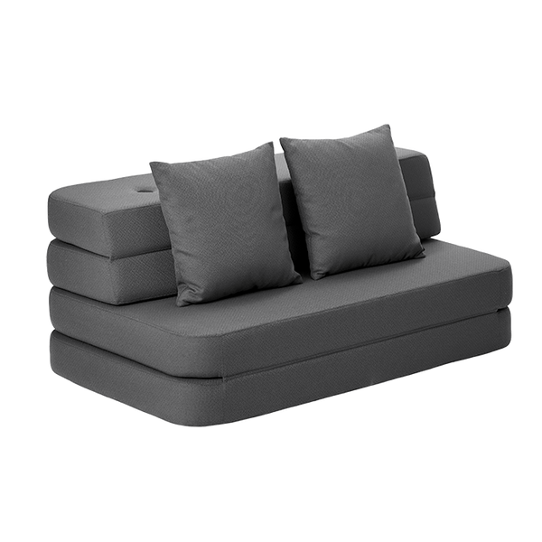KK 3 FOLD SOFA - SHADOW GREY. ONLINE EXCLUSIVE