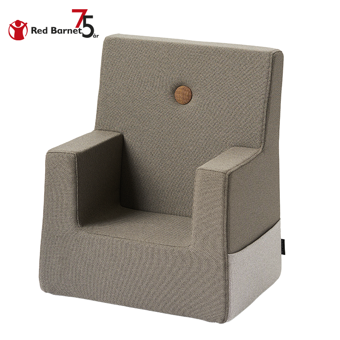 KK KIDS CHAIR RB - BROWN W. DARK CAMEL