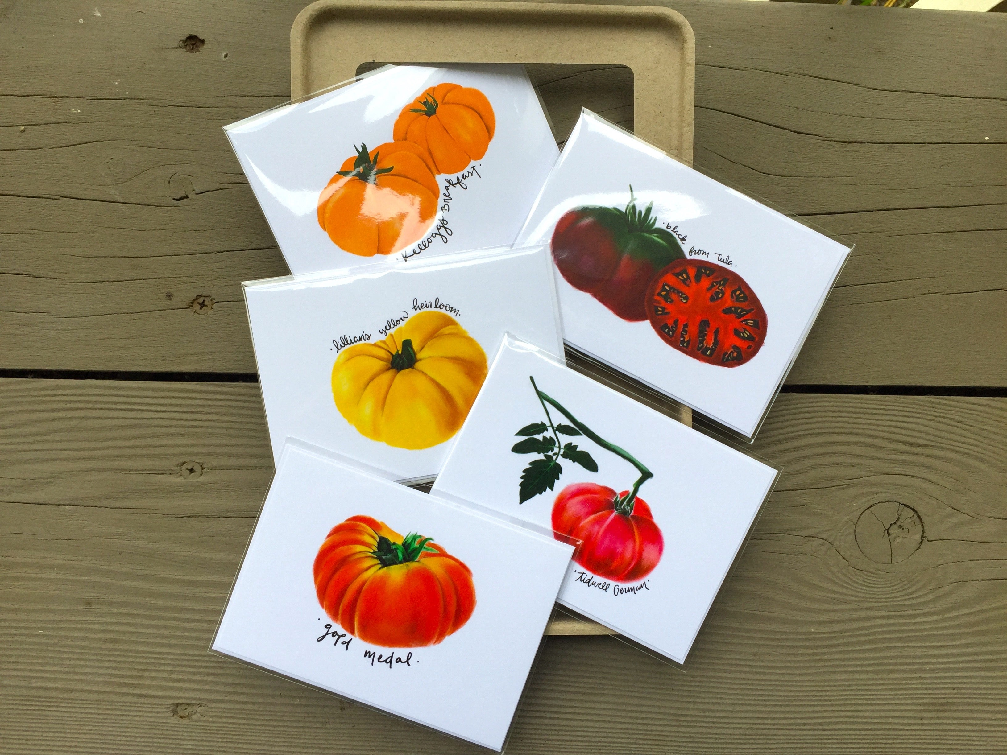 Heirloom Tomato Seed Cards
