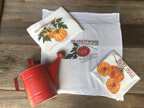 Trio of Heirloom Tomato Flour Sack Towels