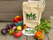 Recycled Cotton Eat Real Food Lunch Bag