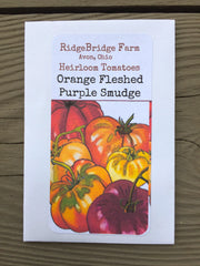 Orange Fleshed Purple Smudge Heirloom Tomato Seeds