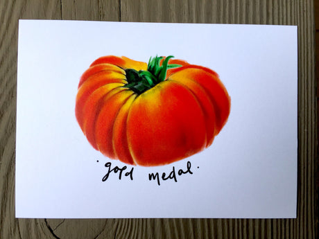 Heirloom Tomato Seed Card - Gold Medal