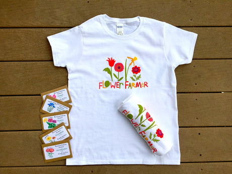 Flower Farmer Ladies T-Shirt