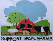 Support Local Farms Unisex Adult & Youth T-Shirt