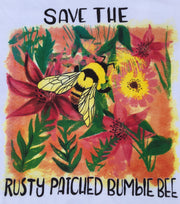 Rusty Patched Organic Ladies Bumble Bee T-Shirt