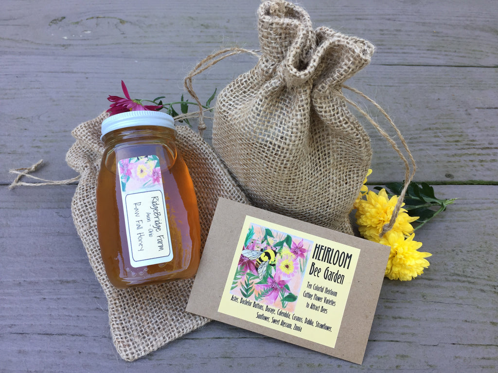 Raw Honey & Bee Garden Gift Set