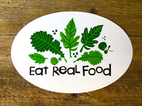 Vinyl Sticker - EAT REAL FOOD