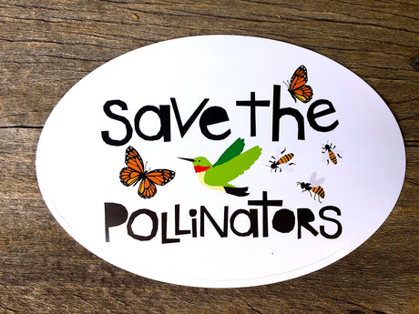 Vinyl Sticker - SAVE THE POLLINATORS