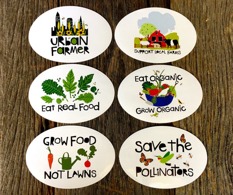 Vinyl Sticker Set of 6 - Farm Hippie Originals