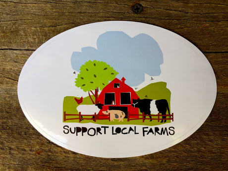 Vinyl Sticker - SUPPORT LOCAL FARMS