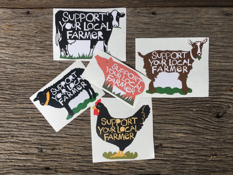 Support Your Local Farmer Sticker Collection