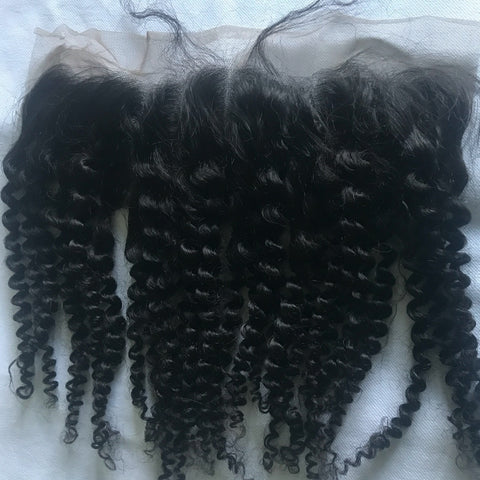 Malaysian Kinky Curly Lace Frontal