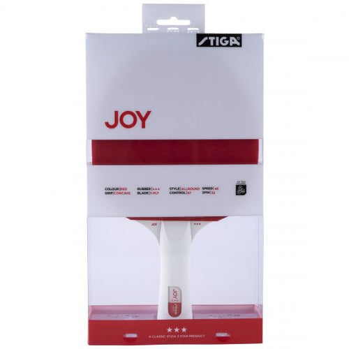 Stiga Joy 3-Star Table Tennis Bat Red