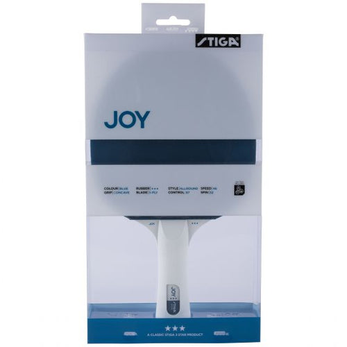 Stiga Joy 3-Star Table Tennis Bat Blue