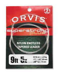 Orvis Super Strong Plus Knotless Leader 2PK 7.5' 4X