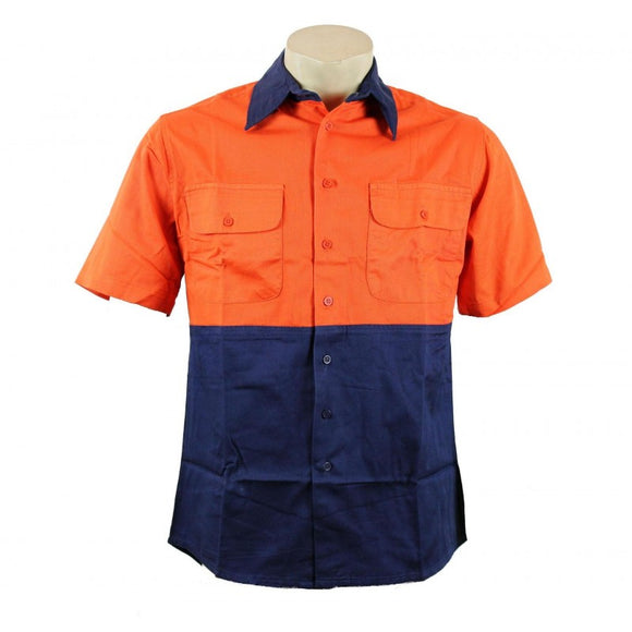 HiViz Cotton Shirt -  Short Sleeve